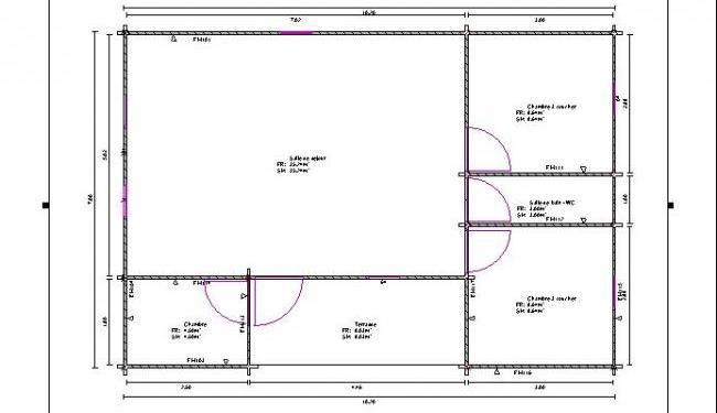 Maison bois en kit maison bois anna for Construction maison 60m2