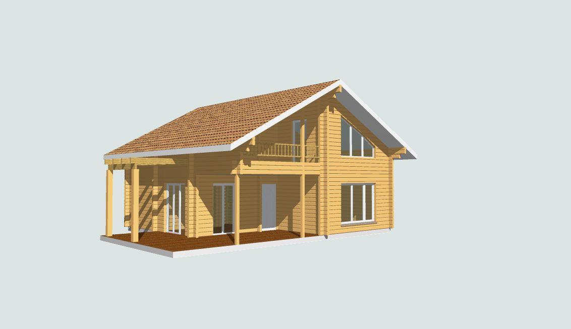 Chalet Moderne En Kit : Maison bois en kit m²